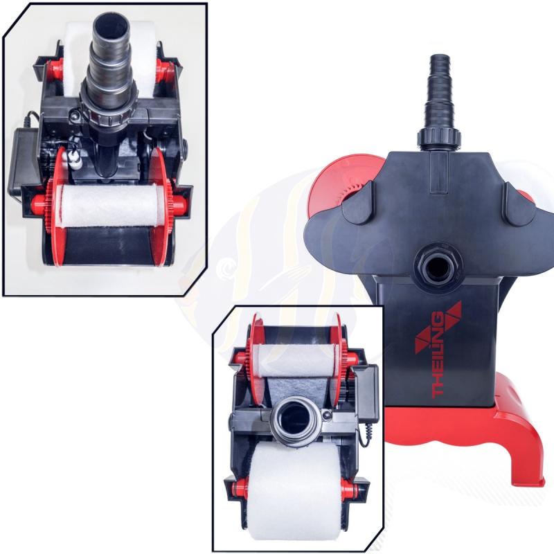 3 Rollen Vlies 10,5cm 40g//m Vliesfilter Rollermat Compact 1 Theiling Ersatzvlies