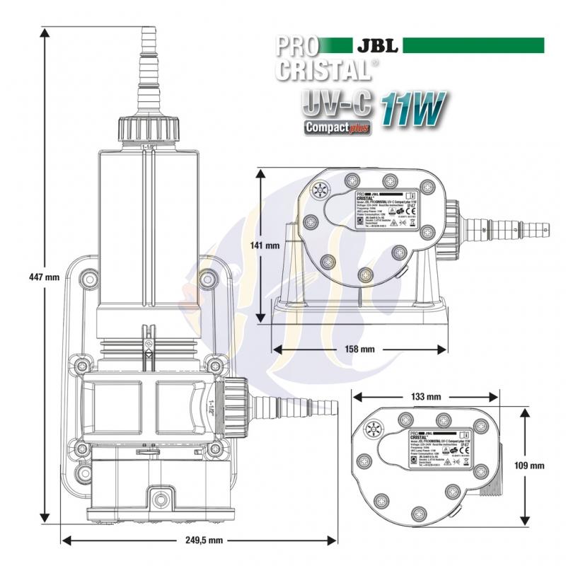 JBL ProCristal UV-C 11 Watt + (6036600) - Mrutzek Meeresaquaristik ...